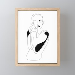 Lined pose Framed Mini Art Print
