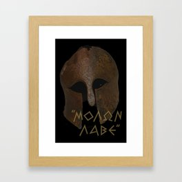 The Spartan Answer at Thermopylae Framed Art Print