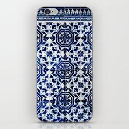 Cobalt Flourish iPhone Skin
