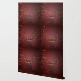 Music, clef with key notes on red background Wallpaper