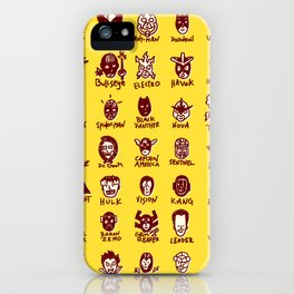 Happy Little Marvels - Yellow iPhone Case