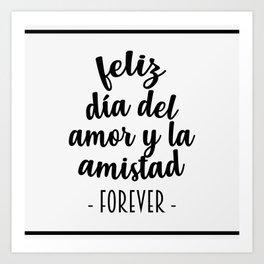 Feliz Día del Amor Art Print