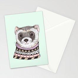 Hipster Ferret Stationery Cards