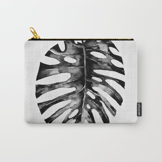 Minimal Monstera Carry-All Pouch
