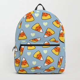 Candy Corn and Heart Pattern Backpack