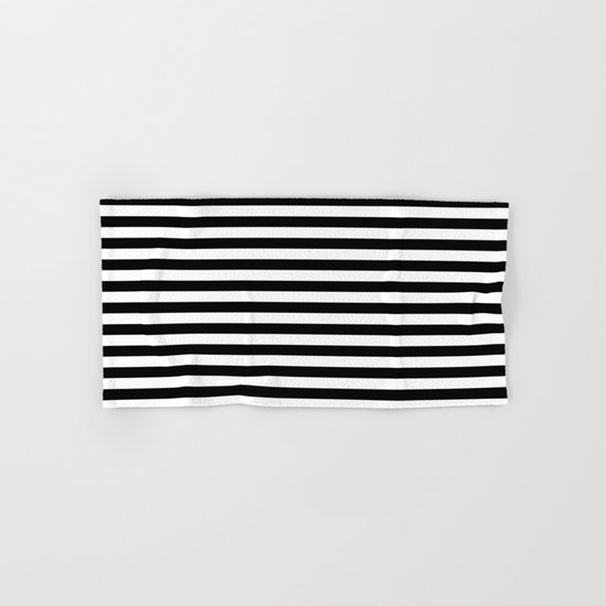 Horizontal Stripes (Black/White) Hand & Bath Towel