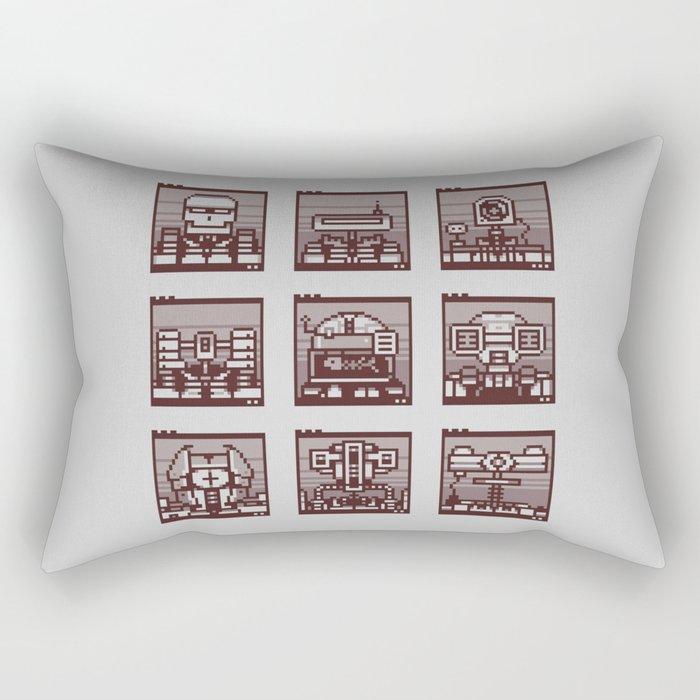 Robot Mugshots Rectangular Pillow