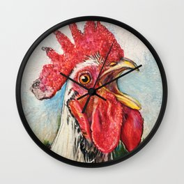 Crowing Rooster, Julio Wall Clock