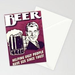 Booze Advert 2 Stationery Cards