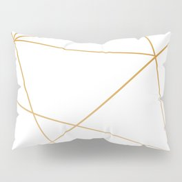geometric gold and white Pillow Sham