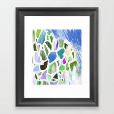 Blue Terrazzo Framed Art Print