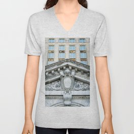 All aboard Detroit Unisex V-Neck
