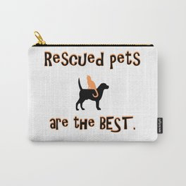 Rescued Pets are the Best Carry-All Pouch