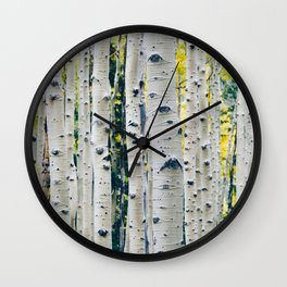 Aspen Forest Tree Bark Wall Clock