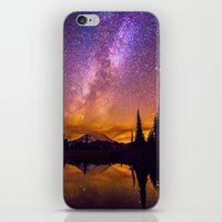 milky way iPhone & iPod Skins featuring Milky Way by EclipseLio