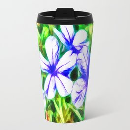 Blue Plumbago flower Travel Mug