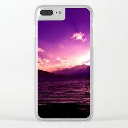 Purple sky Clear iPhone Case