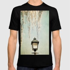 Old Town Blossoms Mens Fitted Tee Black MEDIUM