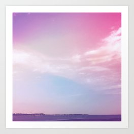 the sky + the sound Art Print