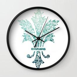 Fleur De Lis - French - Blue Wall Clock