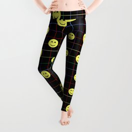 Colorful Smiley Emoji 4 - black Leggings