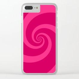 pink vortex Clear iPhone Case