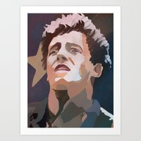 springsteen Art Prints featuring The Boss by Lee_B