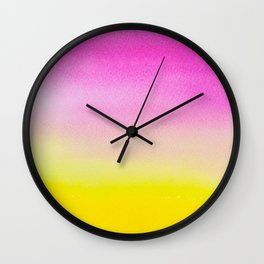 Abstract painting in modern fresh colors Wall Clock