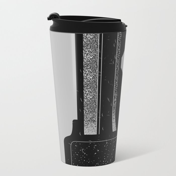 Piano Key. Metal Travel Mug