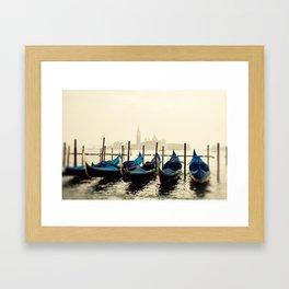 Gondolas in Color Framed Art Print