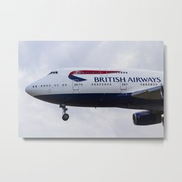 British Airways Boeing 747 Metal Print