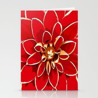 dahlia Stationery Cards featuring Dahlia by Saundra Myles
