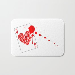 Ace of Hearts With Blood Bath Mat