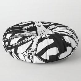Skeleton Ribs | Black and White Floor Pillow
