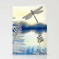 dragonfly Stationery Cards featuring Dragonfly by Alibabaform