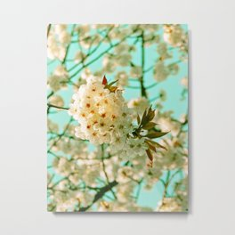 White Spring Love Metal Print