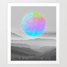 Worlds That Never Were (Geodesic Moon) Art Print