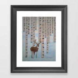 Winter Birch Framed Art Print