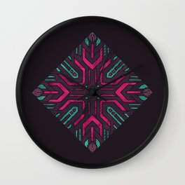 Neon Diamond Wall Clock