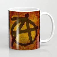 anarchy Mugs featuring Anarchy by BruceStanfieldArtist.DarkSide