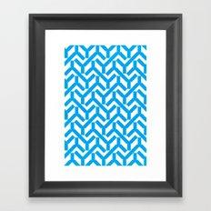 Cyan Geometry Pattern Framed Art Print