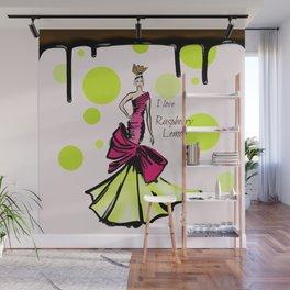 I love Raperry Lemon Wall Mural