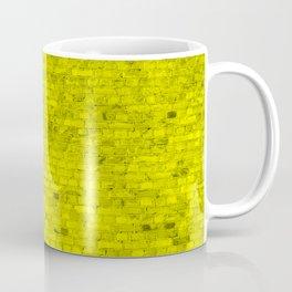 Bright Neon Yellow Brick Wall Coffee Mug