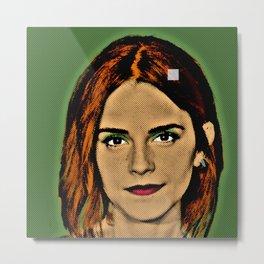 Emma Watson Popart Metal Print