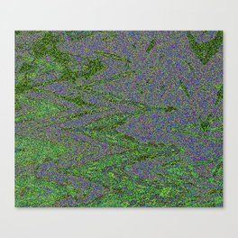 GORIAN MOSS GROWING ON FALIS THREE ON A CLOUDY DAY Canvas Print