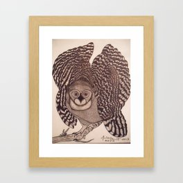 Owl The Native Messenger Framed Art Print