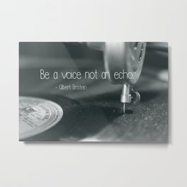 Be a voice not an echo  - Macro Photography #Society6 Metal Print