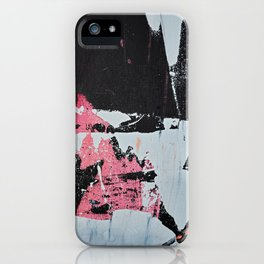 Profoundly [1]: a vibrant abstract piece in blues magenta and orange by Alyssa Hamilton Art iPhone Case