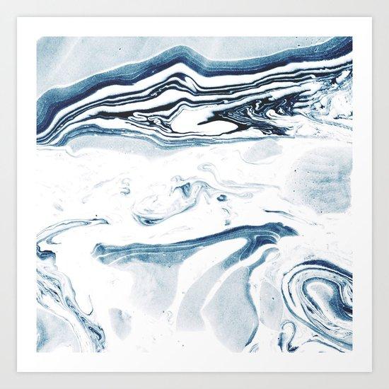 Marble fade Art Print