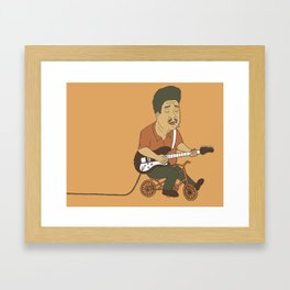 Muddy Waters riding a small bicycle Framed Art Print